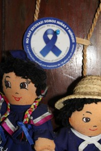 Picture of dolls used in anti-exploitation game.